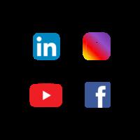 LinkedIn - Instagram - Youtube - Facebook